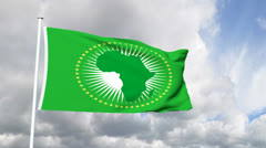 Flag of the African Union Stock Footage