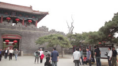 Pan Dai Temple Taian China traditional Chinese architecture main entrance Stock Footage