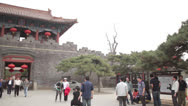 Stock Video Footage of pan Dai Temple Taian China traditional Chinese architecture main entrance