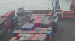 Container operation in port Stock Footage