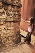 terrace of the leper king, angkor thom, cambodia - stock photo