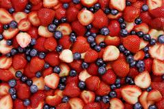 Stock Photo of strawberries and blueberries