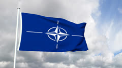 Flag of the NATO Stock Footage