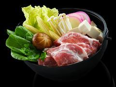 Sukiyaki japanese food Stock Photos