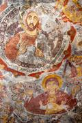 ancient religious paintings in christianity - stock photo