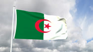 Stock Video Footage of Flag from the Democratic Republic of Algeria