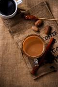 coffee on sack - stock photo