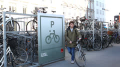 Bicycle parking Stock Footage
