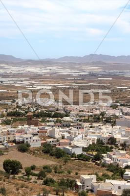 Stock photo of Typical Andalusian village in southern Spain.