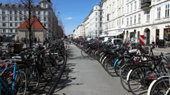 bicyclerows in the city - stock footage
