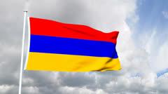 Flag from Armenia Stock Footage