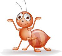 Ant cartoon - stock illustration