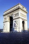 Vertical view of arc de triomphe Stock Photos