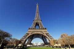 famous eiffel tower - stock photo