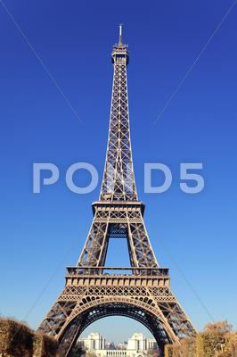 Stock photo of famous eiffel tower