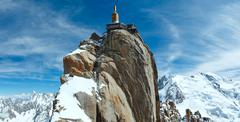 Mountain top station (aiguille du midi, france). Stock Photos