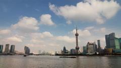 Time lapse of Shanghai skyline - 4K Stock Footage