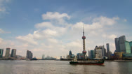 Stock Video Footage of Time lapse of Shanghai skyline - 4K