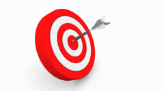 Darts on red target Stock Footage