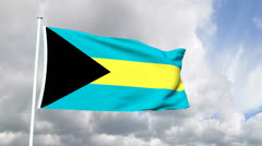 Flag from the Bahamas - stock footage