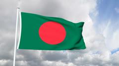 Flag of Bangladesh Stock Footage