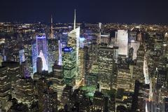 new york city, usa - sept 19, 2012: new york uptown and times square - stock photo