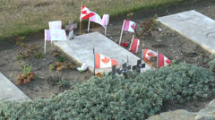 Burial place of war poet Lt.-Col. John McCrae, Wimereux Communal Cemetery Stock Footage