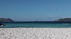 Wavy sea at sunny day Stock Footage