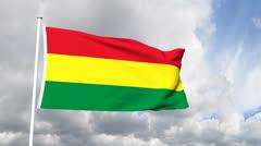 Flag of Bolivia Stock Footage
