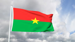 Flag of Burkina Faso Stock Footage