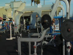 Muscle Beach Venice Beach California Hollywood Los Angeles Landmark Stock Footage