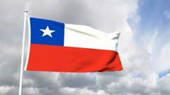 Flag of Chile Stock Footage