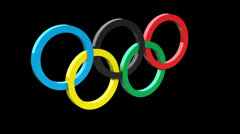 Olympic Rings - stock footage