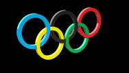 Stock Video Footage of Olympic Rings