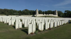The Étaples Military Cemetery, Pas-de-Calais, France Stock Footage
