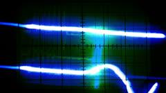 Oscilloscope graphics Stock Footage