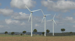 Wind turbines in northern France. Stock Footage