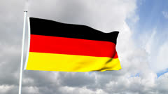 Flag of Germany - stock footage