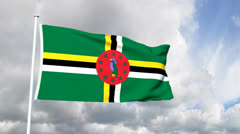 Flag of Dominica - stock footage