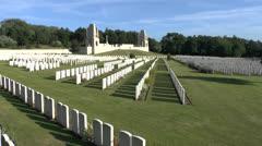 The Étaples Military Cemetery, Pas-de-Calais, France Stock Footage
