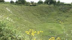 The Lochnagar mine crater, La Boisselle, France Stock Footage