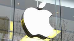 Apple shop iPhone iPad sell in Frankfurt Germany Stock Footage