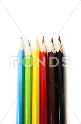 Stock photo of colorful pencils