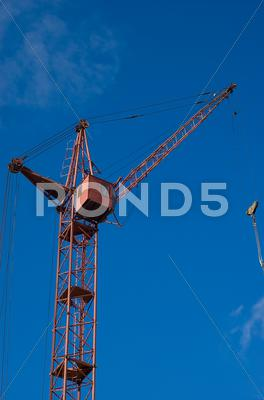 Stock photo of tower crane