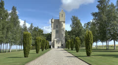 The Ulster Tower, Thiepval, France Stock Footage