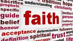 Faith word clouds message Stock Footage