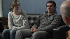 Young couple at a therapy session - stock footage