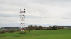 Electrical tower Stock Footage