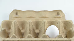 Egg in the package Stock Footage