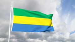 Flag of Gabon Stock Footage